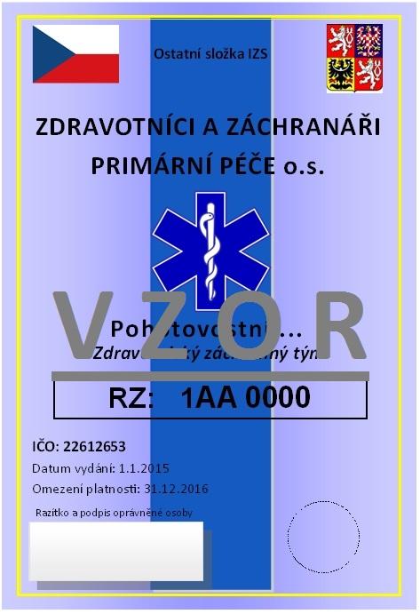 ID karta vozidla ZZPP