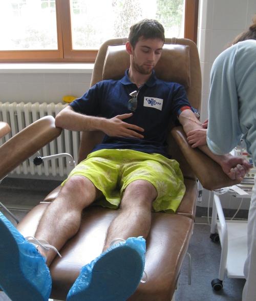 Darování krve - Odběr