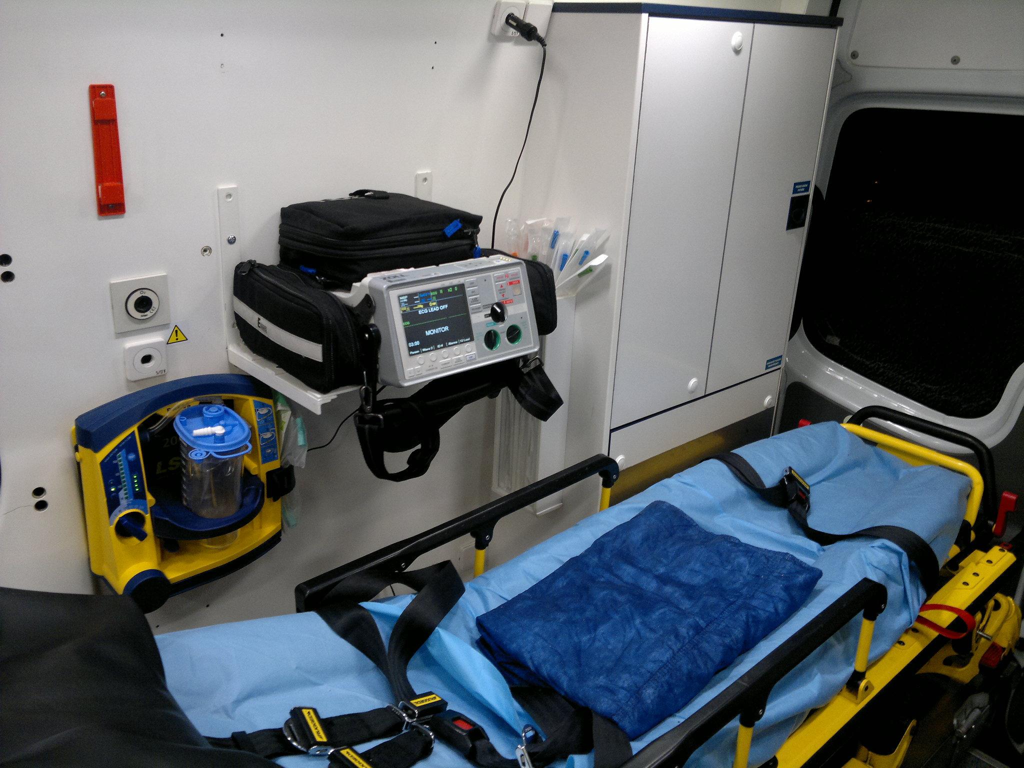 Sanitní vůz - Výbava